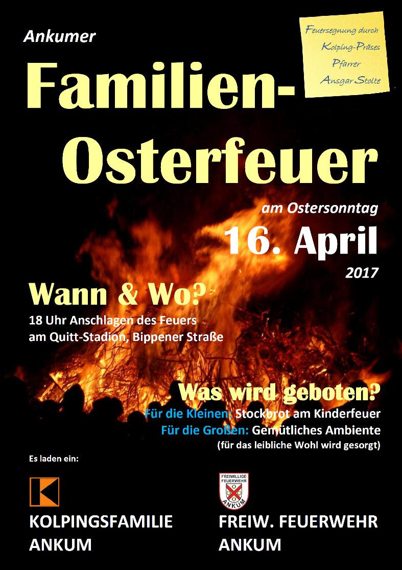 Familien - Osterfeuer 2017